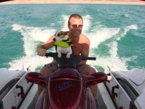 Dan and Dog on Lake Mead