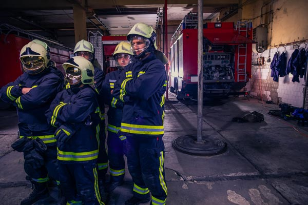 group firefighters
